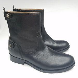 Frye Buckle Mid Calf Zip Up Boots Wmns Sz 5.5